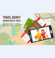 traveling family on vacation vector image vector image