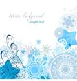 Winter snowflakes background vector image vector image
