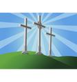 three crosses vector image
