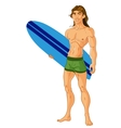 Surf-riding man vector image