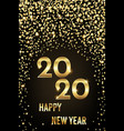 2020 happy new year congratulation with gold vector image vector image