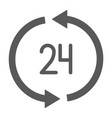 24 hours delivery glyph icon service and delivery