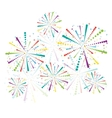 Abstract firework set vector image