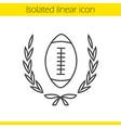american football championship linear icon vector image