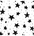 beautiful monohrome black and white seamless sky vector image vector image