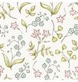 beautiful seamless pattern with forget-me vector image