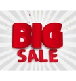 Big sale poster with colorful confetti vector image vector image
