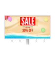 billboard with super sale proposal sale get up vector image vector image