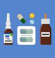 blister of pills bottles set vector image vector image