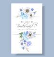 blue bridesmaid card vector image vector image
