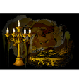 candelabrum and candles vector image