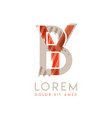 colorful logo design with pink orange and gray vector image vector image