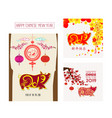 creative chinese new year banners year of the pig vector image vector image