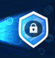 cyber security light background graphic vector image