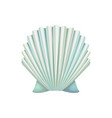 detailed icon of scallop shell ocean