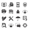 digital data protection icon set vector image vector image