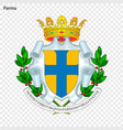 emblem of parma vector image vector image