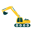 excavator on white background vector image vector image