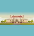 exterior facade a country multistory hotel vector image vector image