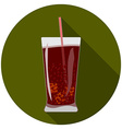Flat design modern of cold drink icon with long vector image vector image