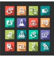 flat online education icons vector image vector image