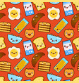 fun seamless pattern funny characters vector image