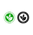 gmo free icon green non gmo label sign vector image