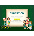 group kids education background vector image vector image