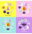 Halloween Trendy Concepts Set vector image vector image