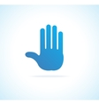Hand stop icon vector image vector image