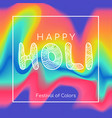 happy holi greeting card color background vector image vector image