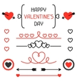 Happy valentines day set of decoration dividers vector image