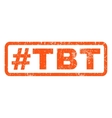 Hashtag Tbt Rubber Stamp vector image vector image