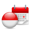 Icon of national day in indonesia vector image vector image