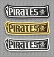 labels for pirate theme vector image