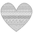 line art drawing in hearted shape for print and ad vector image vector image