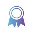 line school medal symbol to intelligent student vector image