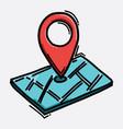 location color icon drawing sketch hand drawn vector image