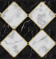 marble and gold chain luxury geometric seamless vector image vector image
