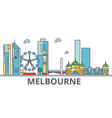 melbourne city skyline buildings streets vector image vector image