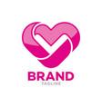 modern heart shape logo vector image