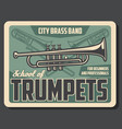 music school trumpet musical band vector image vector image