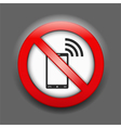 No Phones Sign vector image vector image