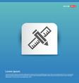 pencil scale icon - blue sticker button vector image