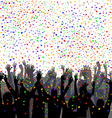 People silhouettes enjoying confetti vector image vector image