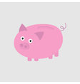 Pink piggy bank Card vector image