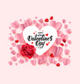 pink valentines day vector image