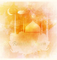 ramadan kareem arabic greeting card islamic vector image vector image