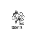 Rooster Logo template 2017 vector image