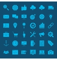 SEO Glyphs Web Icons vector image vector image